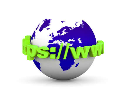 web mail: Globe internet  Stock Photo