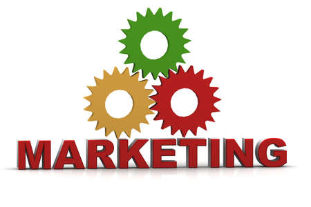3d marketing text Stock Photo - 15709133