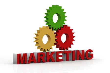 3d marketing text Stock Photo - 15709138