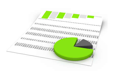 financially: charts and graphs  Stock Photo