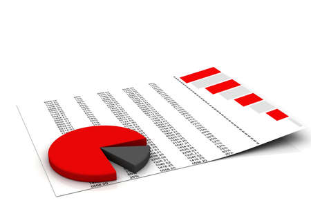 statistically: charts and graphs  Stock Photo
