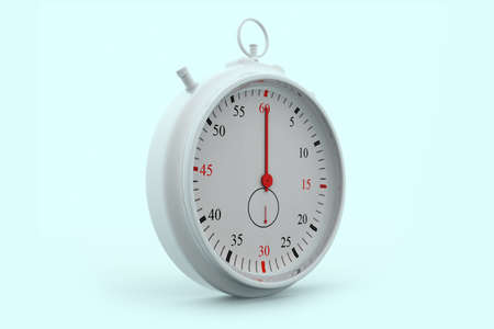 race start: chrome stopwatch isolated on a isolated background