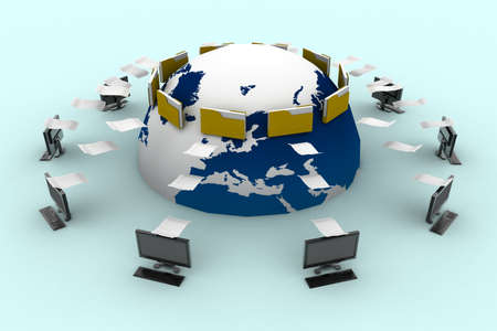information medium: Data transfering