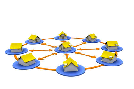 House Network Stock Photo - 15593740