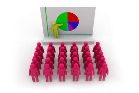 Business people team with pie chart Stock Photo - 15593712