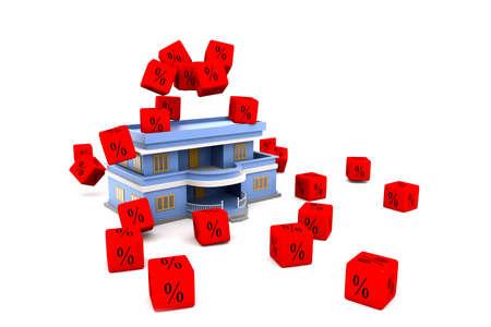 Interest Rates on House Stock Photo - 15593697