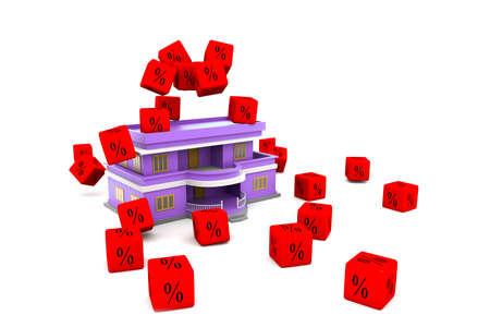 Interest Rates on House  photo