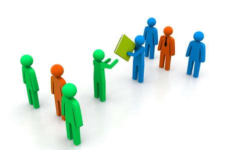handing: handing over document  Stock Photo