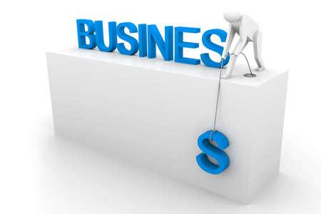 variation: 3d person raise business Stock Photo