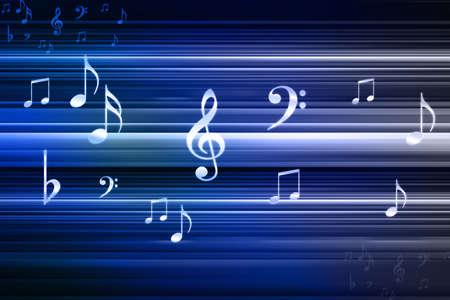 pentagrama musical: notas de la música abstracta diseño para el uso música de fondo