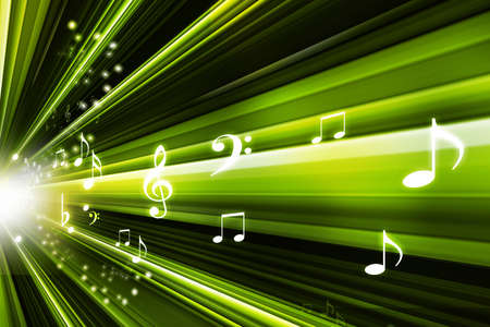 abstract music notes design for music background use   photo
