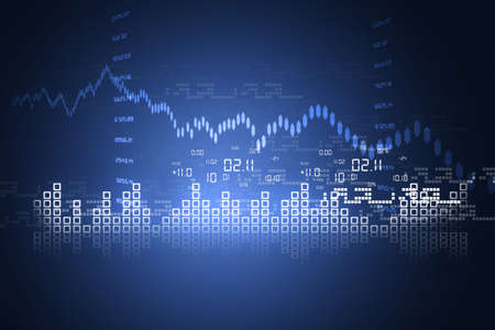 share market: Stock Market Chart Stock Photo
