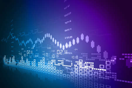 share prices: Stock Market Chart Stock Photo