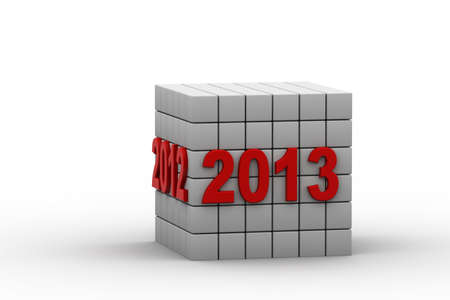 New year 2013 3d render photo