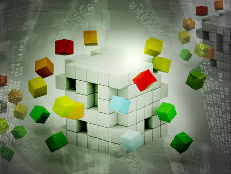 3d illustration of cubes illustration