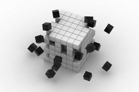 3d illustration of cubes Stock Illustration - 15797346