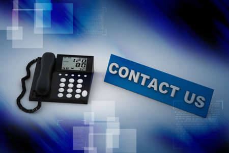 antiquated: Contact us  phone on attractive background