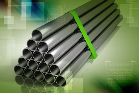 Lot of folded steel pipes Stock Photo - 15798798