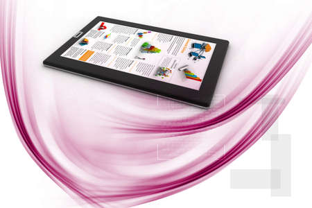 Business news on tablet pc photo