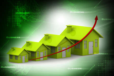 commercial real estate: Four houses  every house is greater than the previous