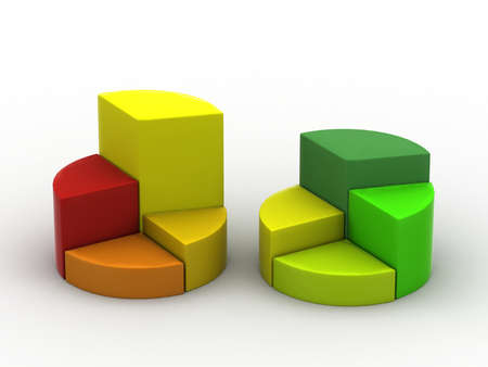 data exchange: A colourful 3d pie chart graph