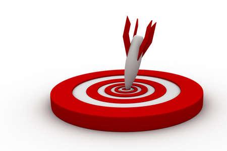 Target with arrow Stock Photo - 16561380