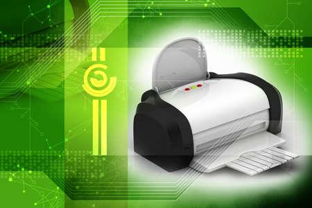 The modern inkjet printer attractive background Stock Photo - 16561522