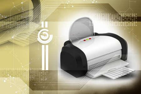 computer printer: The modern inkjet printer attractive background