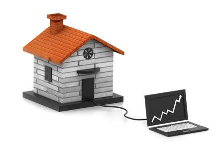 e auction: Growing home sale  Online real estate concept