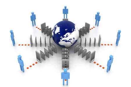 Data transferring Stock Photo - 16945946