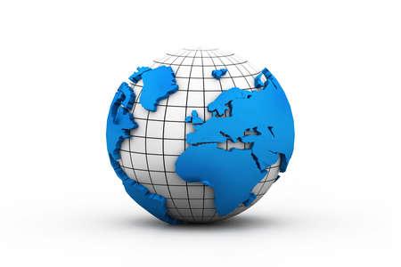 world globes: 3d earth Stock Photo