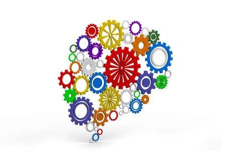 brain shape: Human mind Stock Photo