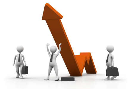 Business growth graph with people  business success concept Stock Photo - 16981803