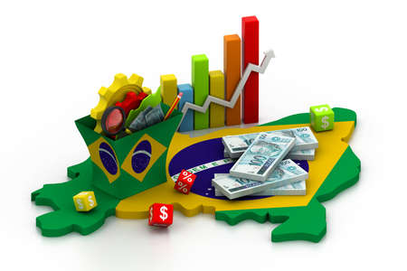An�lisis financiero con gr�ficos y datos en brasil photo