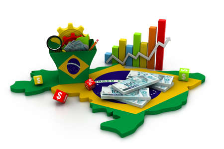 Financial Analysis with graphs and data  in brazil   photo
