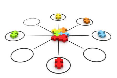 co action: Puzzle concept