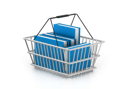 Books in shopping basket Stock Photo - 16982049