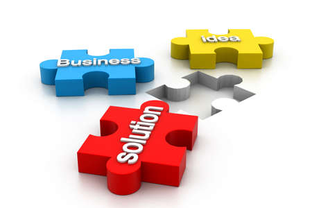 vision loss: jigsaw puzzle showing business content