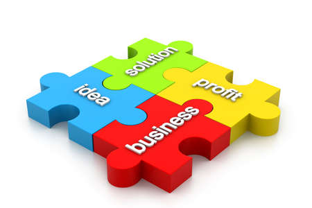 Business puzzles Stock Photo - 16981939