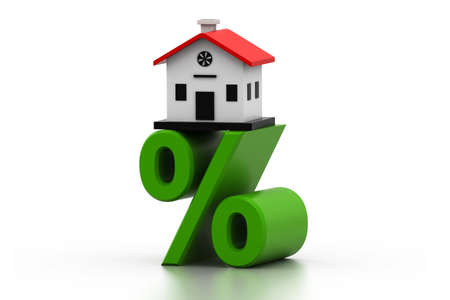 House percentage Stock Photo - 16981849