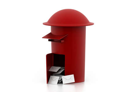 correspond: Mail box Stock Photo