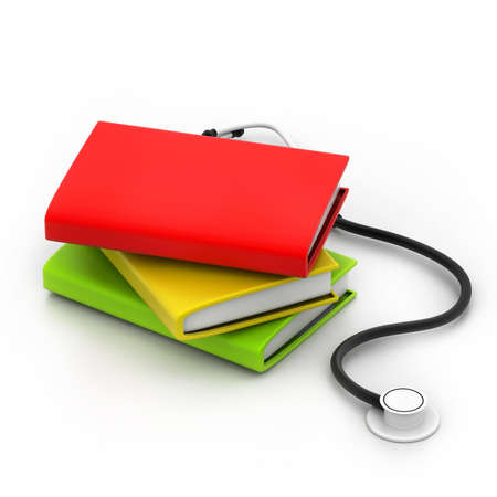 data dictionary: Books and Stethoscope Stock Photo