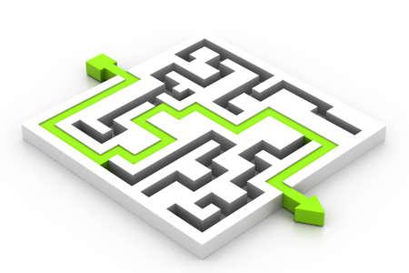 Maze puzzle solved Stock Photo - 17010612