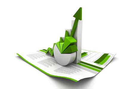 3d graphique la croissance des entreprises