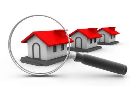 housing search: Cerca casa Archivio Fotografico