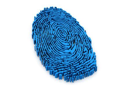 odcisk kciuka: palec drukuj