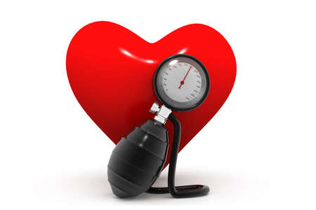 hypertensive: Blood pressure gauge