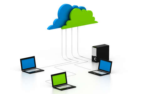 Cloud computing devices Stock Photo - 17034264