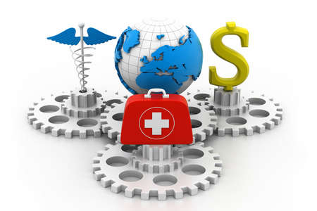 World medical concept Stock Photo - 17034199
