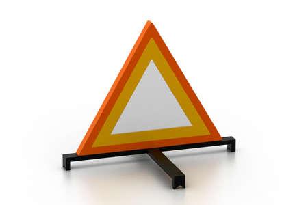 warning triangle: warning triangle Stock Photo